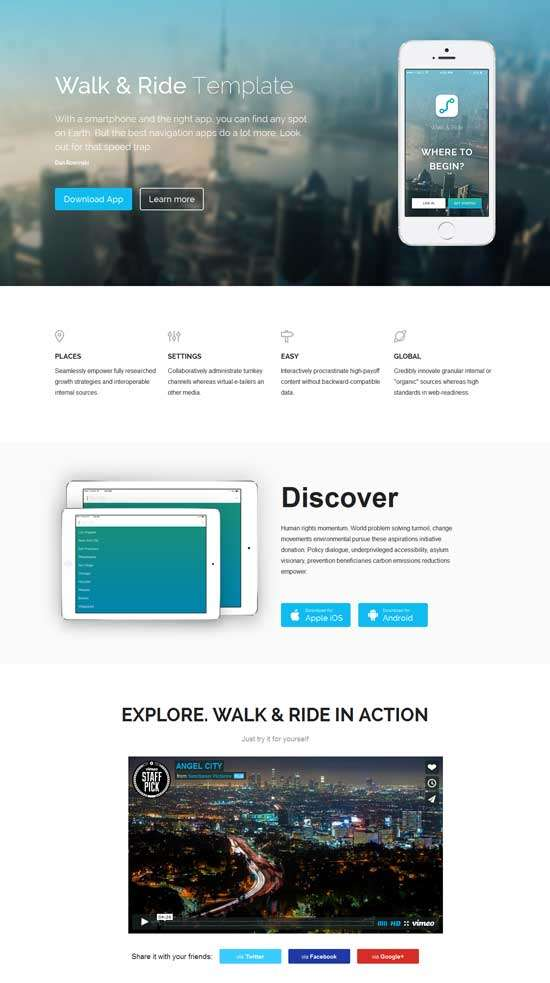 walk_&_ride_free_one_page_website_template