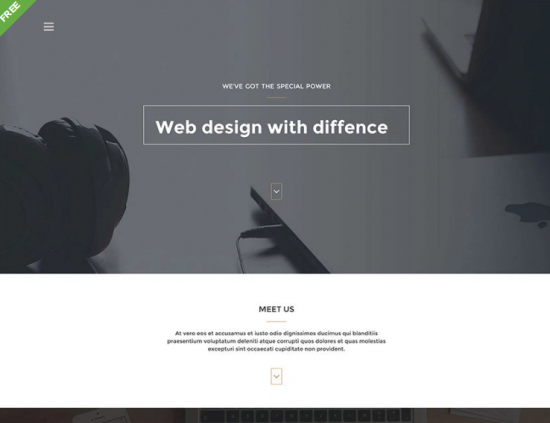 cluster_free_one_page_bootstrap_template