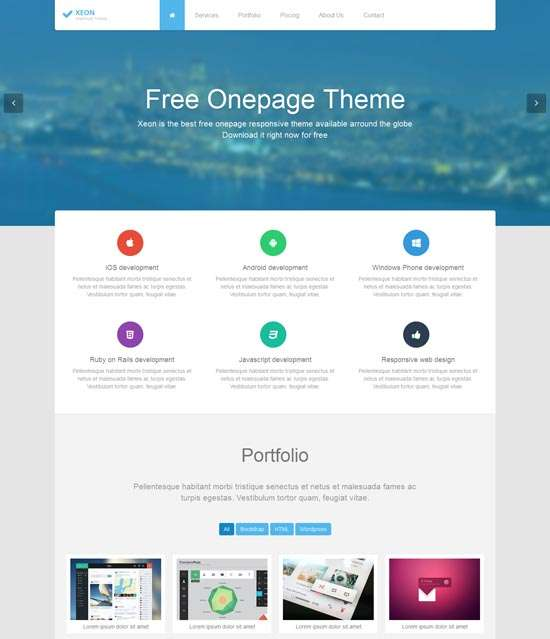 xeon_best_free_onepage_site_template