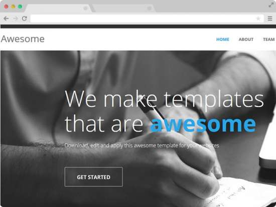 awesome_free_one_page_bootstrap_template