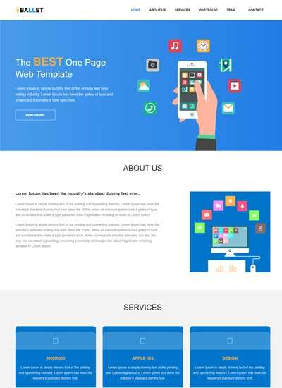 ballet_one_page_free_website_template