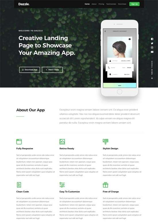 dazzle_free_one_page_website_template