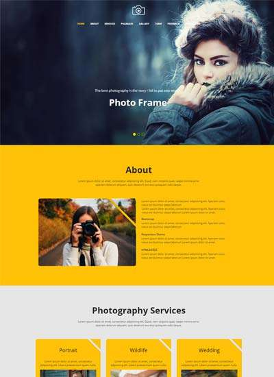 focus_best_photography_website_template_free