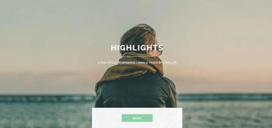 highlights_one_page_website_template