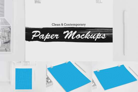 clean_and_contemporary_paper_mockups