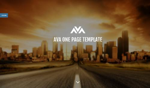 17 ava responsive one page template