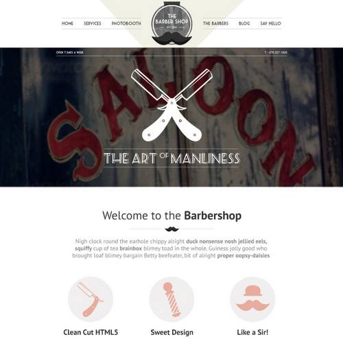 40 the barbershop responsive portfolio