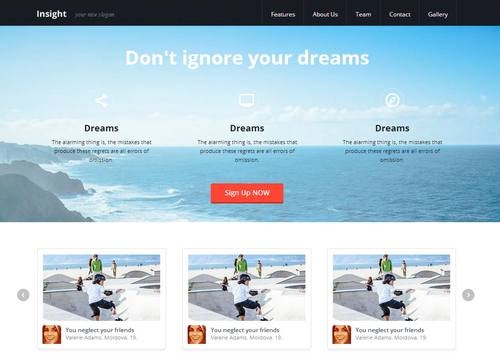 7 insight responsive html template